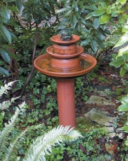 Make your own bird bath fountain!