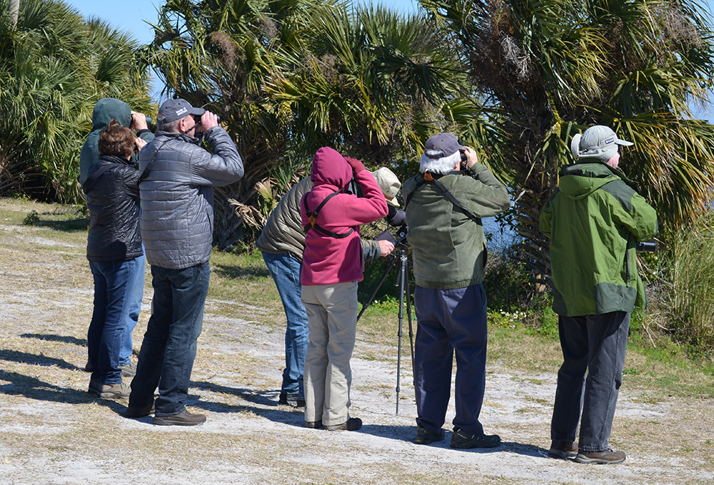 Bird watchers attend a Reader Rendezvous event in Titusville, Florida. Photo by Bill Thompson, III.